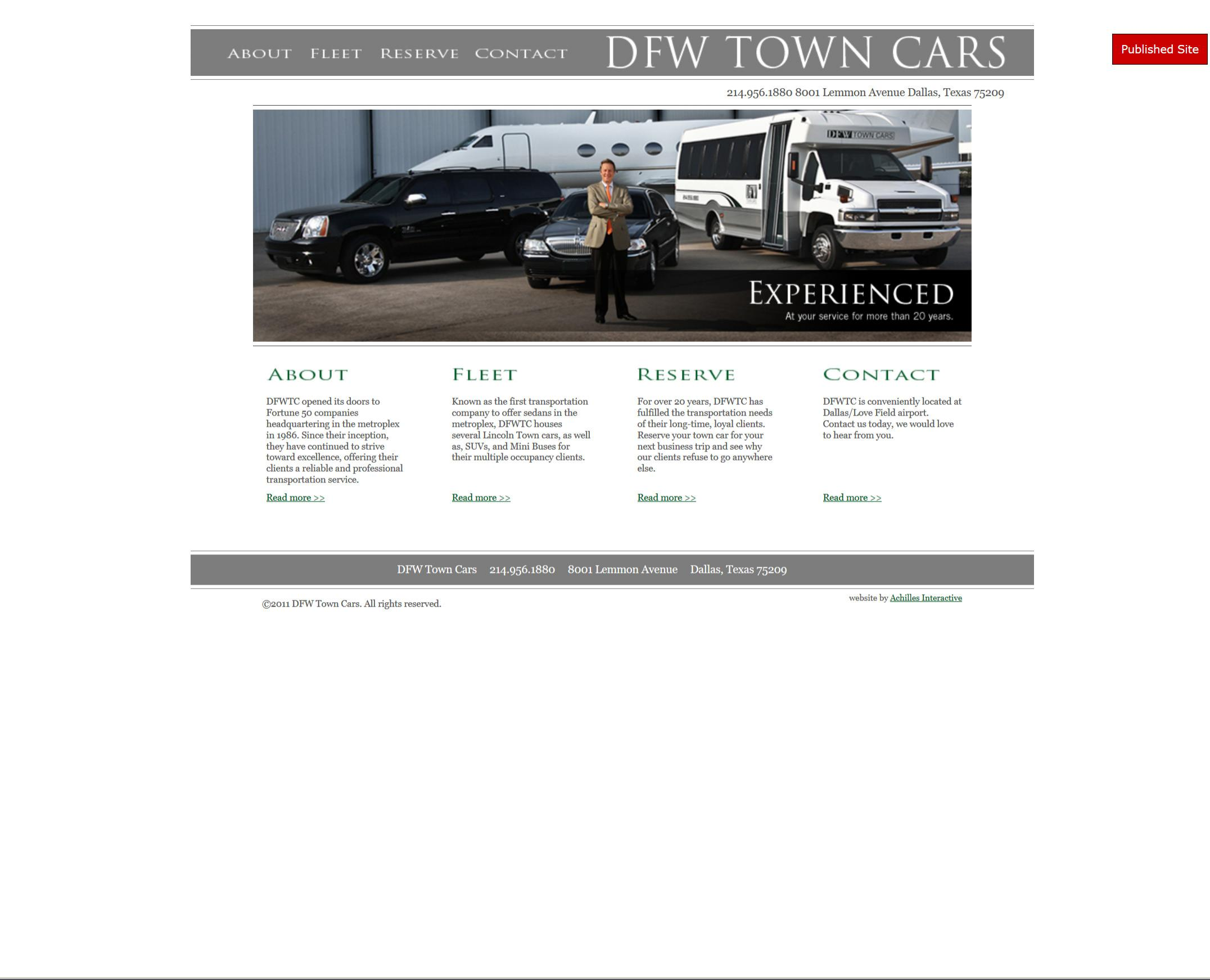 DFW Town Cars (Screenshot)