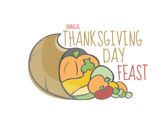 logo thanksgiving day feast
