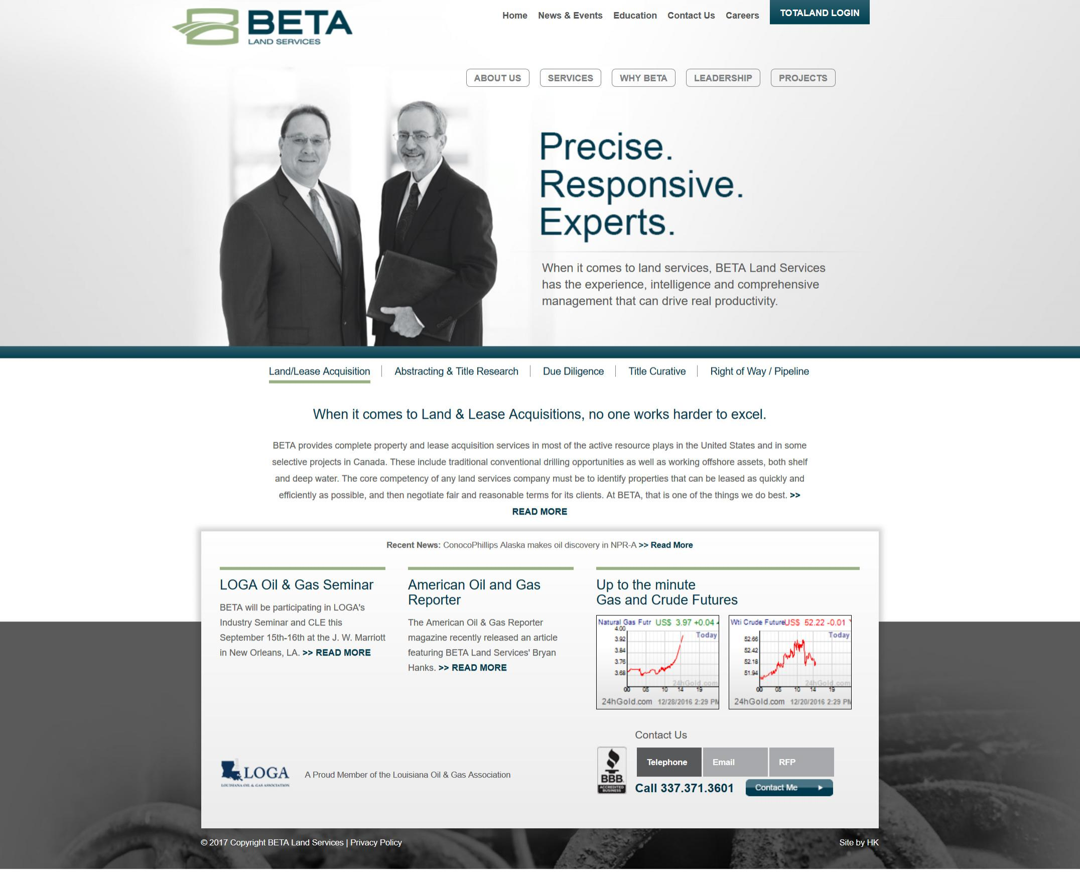 BETA Land Services | Achilles Interactive