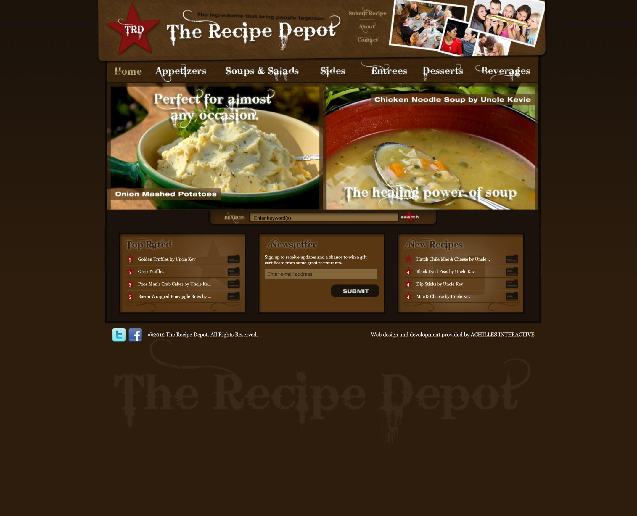 The Recipe Depot (Screenshot)