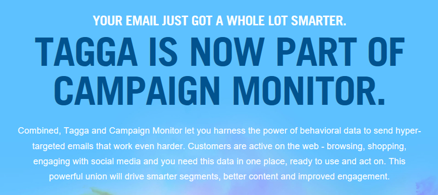 Tagga is now a part of Campaign Monitor